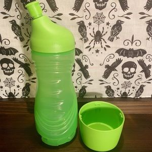 Tupperware- Green Stow-N-Go sports bottle